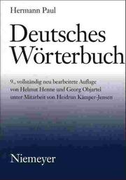 Cover of: Deutsches Wörterbuch