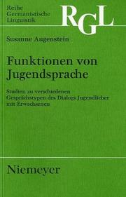 Cover of: Funktionen von Jugendsprache | Susanne Augenstein