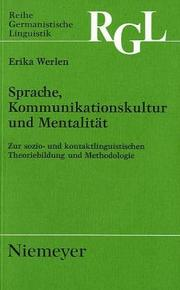 Cover of: Spraches, Kommunikationskultur und Mentalitat