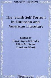 Cover of: The Jewish self-portrait in European and American literature |