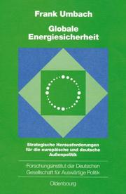 Cover of: Globale Energiesicherheit