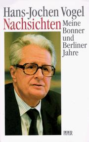 Cover of: Nachsichten