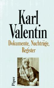 Cover of: Dokumente, Nachträge, Register