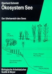 Cover of: Ökosystem See, Bd.1, Uferbereich des Sees