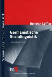 Cover of: Germanistische Soziolinguistik