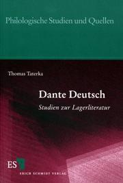 Cover of: Dante Deutsch