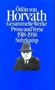 Cover of: Prosa und Verse, 1918-1938
