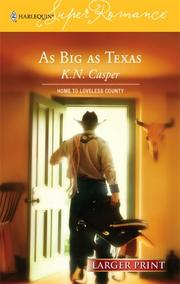 Cover of: As Big As Texas