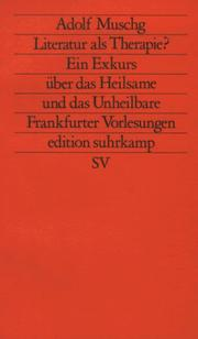 Cover of: Literatur als Therapie?
