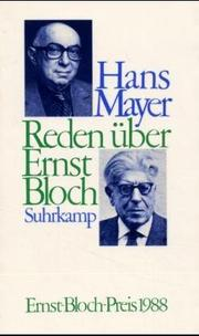 Cover of: Reden über Ernst Bloch