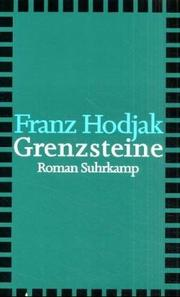 Cover of: Grenzsteine