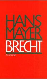Cover of: Brecht