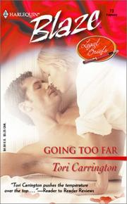 Cover of: Going Too Far: Legal Briefs (Harlequin Blaze, No 73)