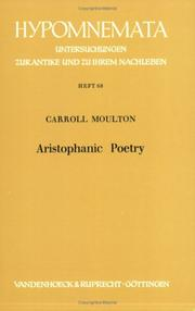 Cover of: Aristophanic poetry