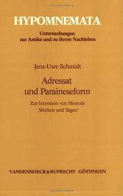 Cover of: Adressat und Paraineseform