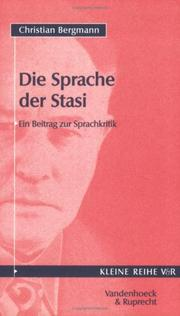 Cover of: Die Sprache der Stasi