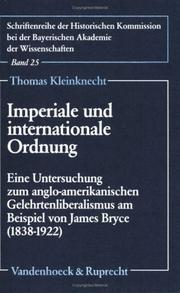 Imperiale und internationale Ordnung by Thomas Kleinknecht