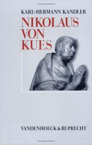 Cover of: Nikolaus von Kues