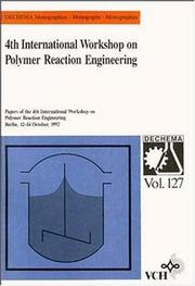 Cover of: 4th International Workshop on Polymer Reaction Engineering