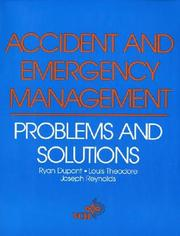 Cover of: Accident and emergency management