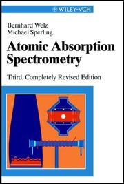 Cover of: Atomabsorptionsspektrometrie