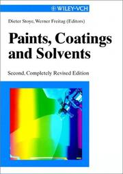 Cover of: Paints, Coatings and Solvents, 2nd Completely Revised Edition | D. Stoye