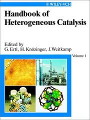 Cover of: Handbook of heterogeneous catalysis |