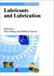 Cover of: Lubricants and lubrications |
