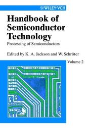 Cover of: Handbook of Semiconductor Technology, Volume 2 |