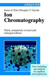 Cover of: Ion chromatography. | Fritz, James S.