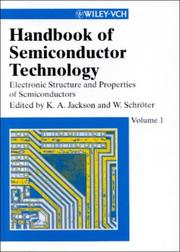 Cover of: Handbook of semiconductor technology by