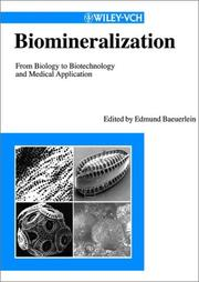 Cover of: Biomineralization |