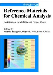 Cover of: Reference Materials for Chemical Analysis |