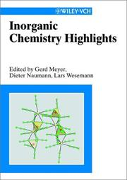 Cover of: Inorganic chemistry highlights |