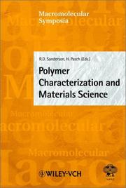 Cover of: Polymer Characterization and Materials Science (Macromolecular Symposia) |