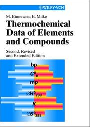 Cover of: Thermochemical data of elements and compounds