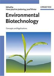 Cover of: Environmental biotechnology |