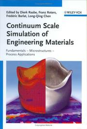 Cover of: Continuum scale simulation of engineering materials |