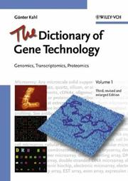 Cover of: The Dictionary of Gene Technology | GГјnter Kahl