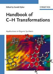 Cover of: Handbook of C-H Transformations | Gerald Dyker