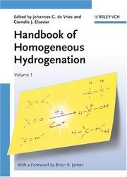 Cover of: Handbook of Homogeneous Hydrogenation |