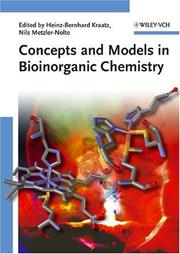 Cover of: Concepts and Models in Bioinorganic Chemistry |