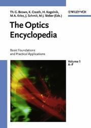 Cover of: The optics encyclopedia |