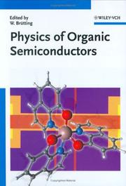 Cover of: Physics of Organic Semiconductors | Wolfgang BrГјtting