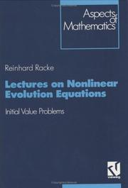Cover of: Lectures on nonlinear evolution equations | Reinhard Racke