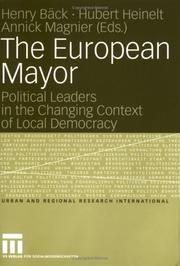 Cover of: The European Mayor | editors