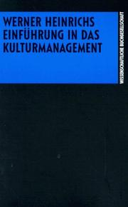 Cover of: Einführung in das Kulturmanagement