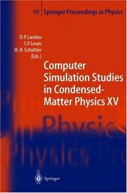 Cover of: Computer Simulation Studies in Condensed-Matter Physics XV |
