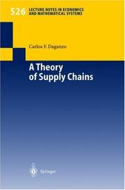 Cover of: A theory of supply chains