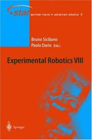Cover of: Experimental Robotics VIII |